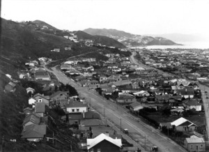 Part 1 of a 2 part panorama of Lyall Bay, Wellington