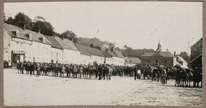 New Zealand mounted troops in Hucqueliers, France