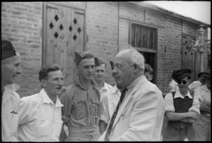 Prime Minister Peter Fraser with hospital patients, Egypt