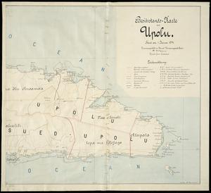 Besitzstands-Karte von Upolu [cartographic material] : Stand am 1 Januar 1914 / M. Moldenhauer, Kaiserl. Gouv. Landmesser.