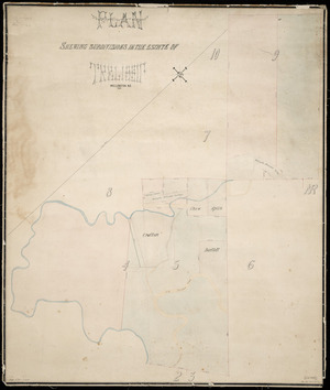Park, Robert George, fl 1881 :Plan showing subdivisions in the estate of Trelissic, Wellington, NZ. [ms map]. Rob. Geo. Park, G E Survr. 1881.