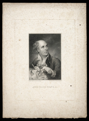 Russell, John, 1745-1806 :John Bacon Esq R A / engraved by J Collyer ARA. Painted by J Russell, R A. [ca 1800]