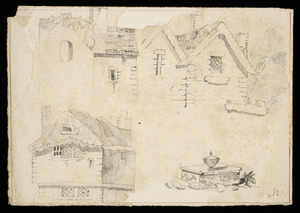 Medley, Edward Shuttleworth, 1838-1910 :My first drawing; [studies of houses] 1st Oct 1853.