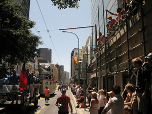 Photographs of the 2008 International Rugby Sevens parade, Wellington