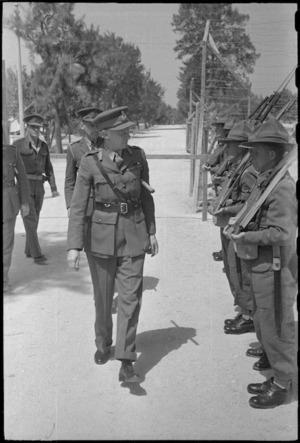 General Theron, GO Admin SA Forces ME, inspecting a guard of honour at Maadi, Egypt