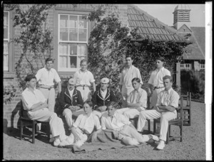 Cricket team from Wanganui Collegiate School, Grey House