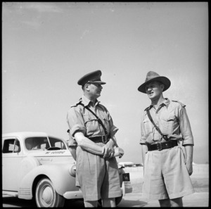 HRH Duke of Gloucester talking to Lt Col Watson at Maadi, World War II