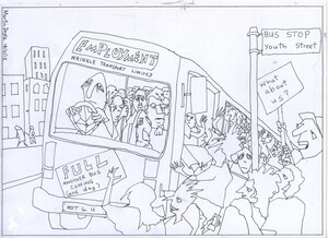 Doyle, Martin, 1956- :[The job bus doesn't stop at Youth Street]. 19 February 2012