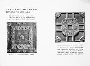 Briscoe & Co. Ltd :A couple of choice modern designs for ceilings. [ca 1907].
