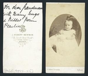 Unidentified baby - Photograph taken by John Hubert Newman