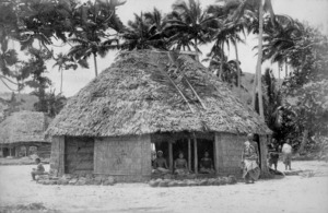 Thatched house in Samoa