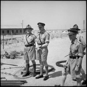 HRH Duke of Gloucester with Major J King at Maadi, World War II