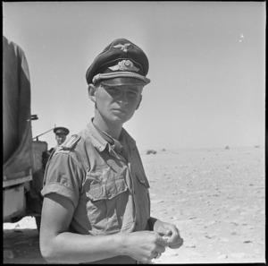 German Stuka pilot brought down near Minqar Qaim, Egypt - Photograph taken by W A Whitlock