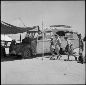 Captured Italian vehicle at NZ Divisional Workshops, Egypt