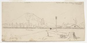 [Ashworth, Edward] 1814-1896 :Onepuka on the Waipa. Wesleyan Mission Station. Revd. Mr Buddle. Kakapuka [1843]