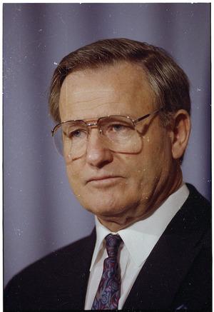 Portrait of Prime Minister, Jim Bolger - Photograph taken by Phil Reid