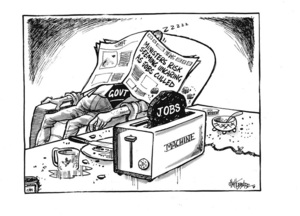 Hubbard, James, 1949- :Ministers risk seeming uncaring as jobs culled - news. 5 March 2012