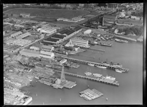 Shipping and industry, Western Viaduct, Auckland