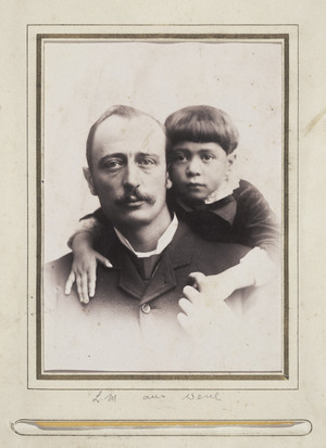 Portrait of Lawrence Marshall Grace (1854-1934) and child - Photograph taken by William Henry Macey