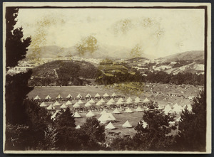 Camp of the Second Contingent for the South African War at Newtown Park, Wellington