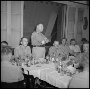 Members of 24 NZ Battalion hold reunion dinner in Cairo, World War II - Photograph taken by H Paton