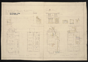Architect unknown :Proposed alterations and additions to residence, Turnbull Street, Wellington, for M. J. Casey and M[..] H. Peare. [n.d.]