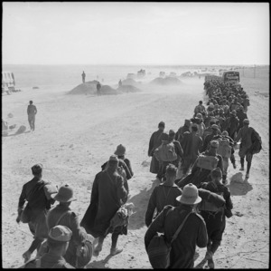 Italian troops surrendering in Egypt, World War II - Photograph taken by H Paton
