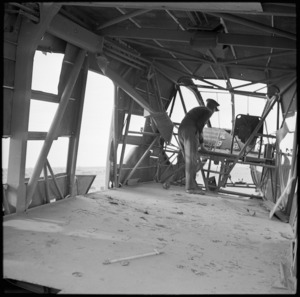 View showing the space available inside a German troop carrying glider, Libya - Photograph taken by H Paton