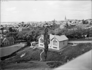 Part 3 of a 3 part panorama in the vicinity of Western Park, Ponsonby