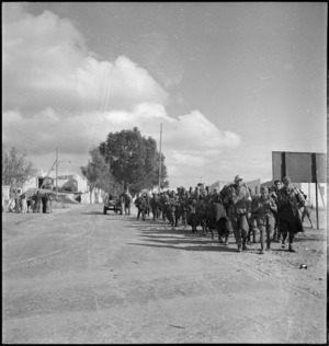 Axis prisoners captured during offensive in Libya, World War II - Photograph taken by H Paton