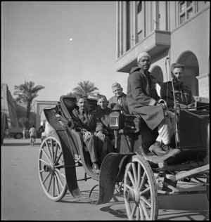 New Zealanders on leave in Tripoli, World War II - Photograph taken by H Paton