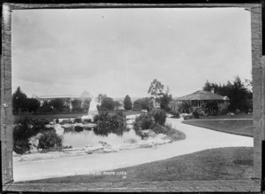Gardens in the Sanatorium grounds at Rotorua - Photograph taken by Sigvard Jacob Dannefaerd