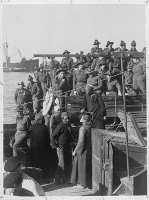 World War II artillery reinforcements arrive at Tewfik, Egypt - Photograph taken by Major Carrie