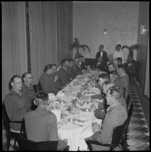 Dinner given by Nairn Brothers for visiting New Zealand Minister of Defence, Hon Frederick Jones, Beirut - Photograph taken by S Wemyss