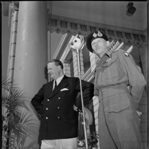 British Ambassador, Sir Miles Lampson, and General Bernard Montgomery at a garden party in Cairo - Photograph taken by S Wymess