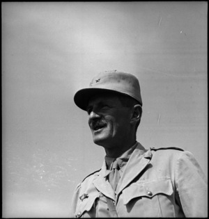 General Phillippe Leclerc after his long march from Lamy, World War II - Photograph taken by M D Elias