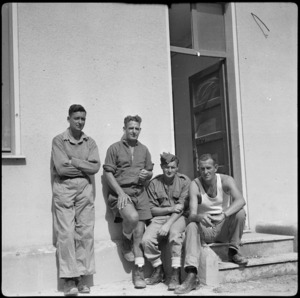 POWs at the British Transit Camp in southern Italy, World War II - Photograph taken by W A Brodie