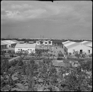 Refugee camp at Bari, Italy, formerly POW camp - Photograph taken by W A Brodie