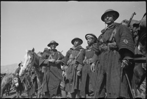 Group of French Moroccan troops near the NZ sector of the Cassino front in Italy, World War II - Photograph taken by George Kaye