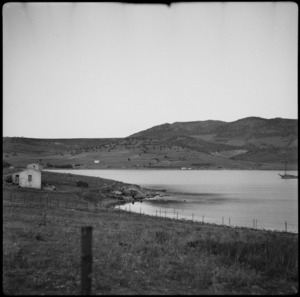 Porto Rafti beach, Greece, from which 4 NZ Brigade embarked in 1941 - Photograph taken by C R Mentiplay