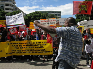 Photographs of Tamil Protest, Parliament Grounds, Wellington