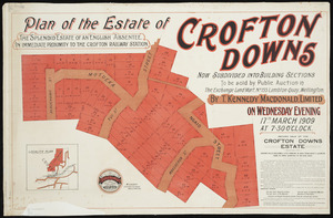 Plan of the estate of Crofton Downs [cartographic material] / W. Loudon, surveyor.