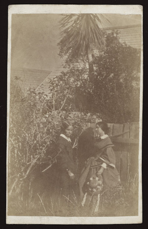 Edgar (nurse) and Jessie Crawford, Thorndon, Wellington - Photograph taken by James Coutts Crawford