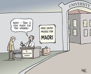 """Free entry passes for MAORI """"Here - Take a few more for the whanau"""" 18 June 2009"""
