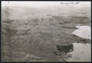 Aerial view of the site of Camp Pahautanui, Porirua, New Zealand