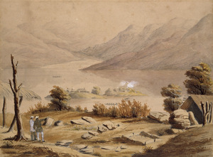 [Clarke, Cuthbert Charles] 1819-1863 :Hot springs. Sir G Grey and my father in the early 1850's [ie December 1849]