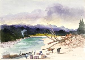 [Fox, William] 1812-1893 :Christys Landing on Inangahua River. [February 1872?]