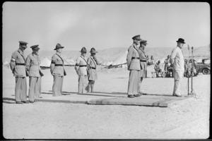 High Commissioner William Joseph Jordan inspects troops at Maadi Base Camp, World War II