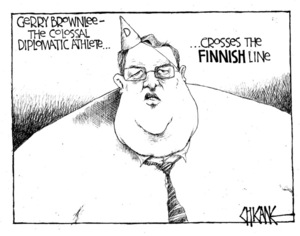 Winter, Mark 1958- :Gerry Brownlee, the colossal diplomatic athlete. 26 March 2012