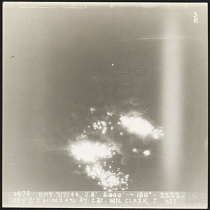 Photograph of target area for bombing